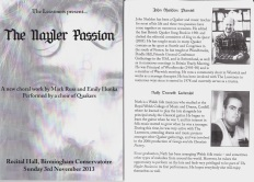 25+ Nayler Passion B'ham Nov 2013